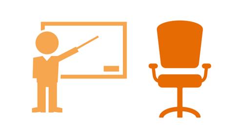 Mobiñliario de oficina y equipos de presentación